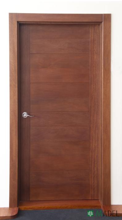 Puertas interiores for Puertas interiores de madera con vidrio